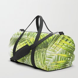 Palm leaves tropical illustration Duffle Bag