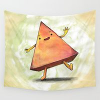pyramid Wall Tapestries featuring Pyramid by Pumpkin Snipes