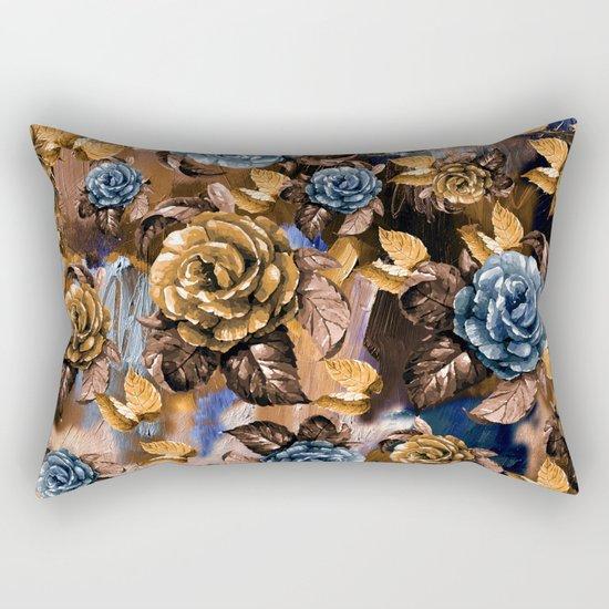Flowers wint Watercolors Rectangular Pillow