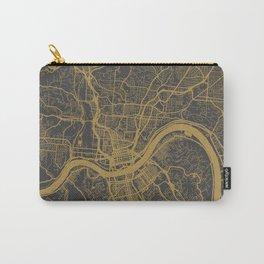 Cincinnati map ocher Carry-All Pouch