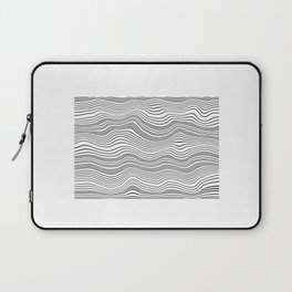 Black and White Waves Laptop Sleeve