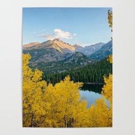 BEAR LAKE COLORADO AUTUMN PHOTO - ROCKY MOUNTAIN NATIONAL PARK FALL IMAGE- LANDSCAPE PHOTOGRAPHY Poster