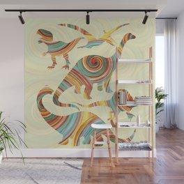 Vibrant Dinosaurs Wall Mural