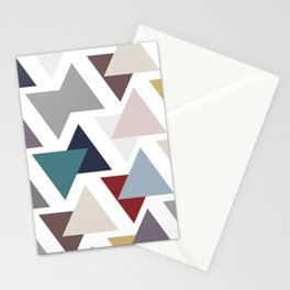 Scatter triangles Stationery Cards