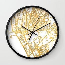 MANILA PHILIPPINES CITY STREET MAP ART Wall Clock