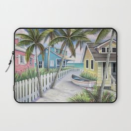 Tropical Beach Cottages Laptop Sleeve