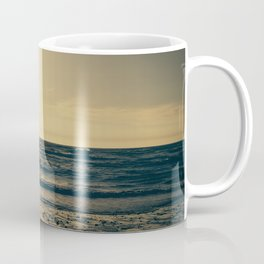 Sunset with the dog. Coffee Mug