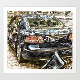 Its just a small dent, Honest! Art Print