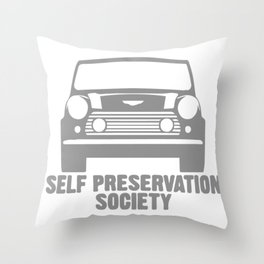 Self Preservation Society Throw Pillow