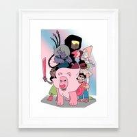 steven universe Framed Art Prints featuring Steven Universe by Laura Pulido