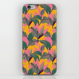 Retro Luxe Lilies Pattern iPhone Skin