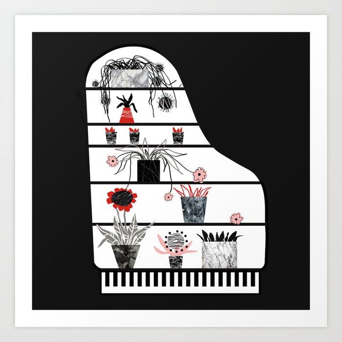 Piano = cupboard Art Print