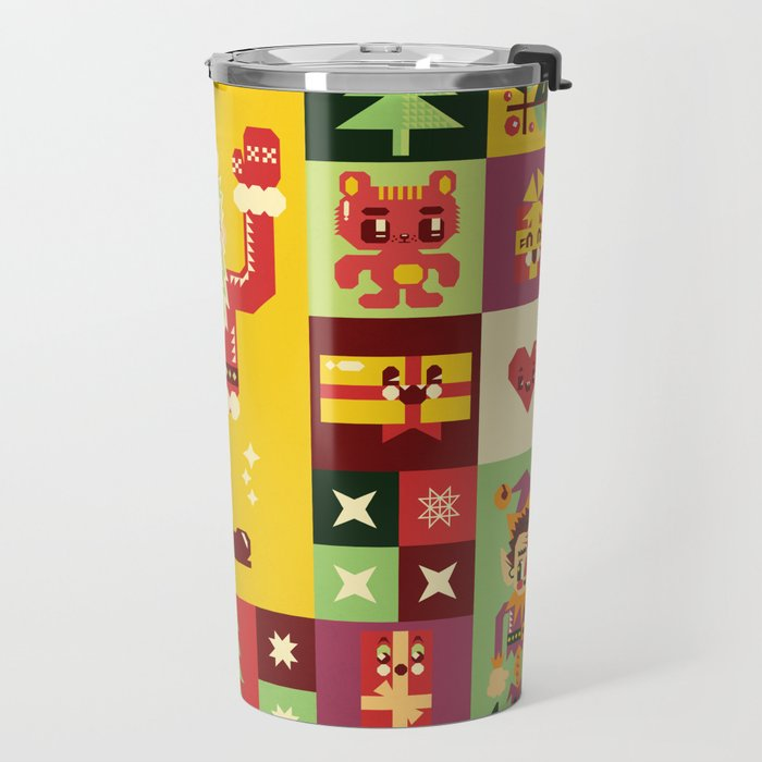 Christmas Geometric Pattern No. 1 Travel Mug