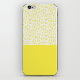 Triangles yellow iPhone Skin