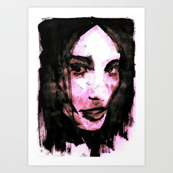 Black Hair Art Print