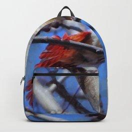 Female Cardinal Flirting Backpack