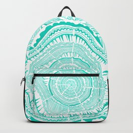 Turquoise Tree Rings Backpack