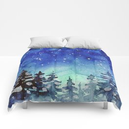 Winter Galaxy Forest Comforters