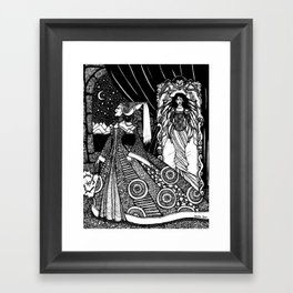 Snow White in the Mirror Framed Art Print
