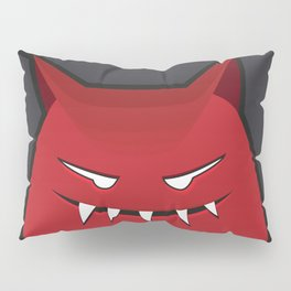 Evil Monster With Pointy Ears Pillow Sham