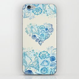 Heart of the shells. Hand drawn illustration iPhone Skin