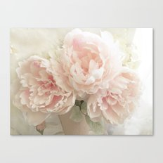 Shabby Chic Cottage Pastel Pink Peony Prints and Peony Home Decor Canvas Print