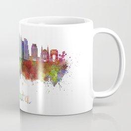Atlanta V2 skyline in watercolor Coffee Mug