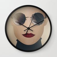ferrari Wall Clocks featuring Ferrari Girl by Seventy Two Studio