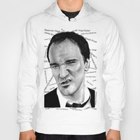 tarantino Hoodies featuring the great Tarantino by Mike Sarda
