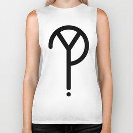 Black Y? Symbol Biker Tank