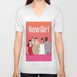 New Girl Unisex V-Neck