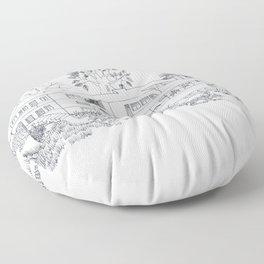 mies house Floor Pillow