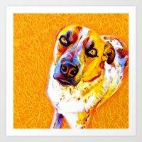 Artsy Dog Art Print