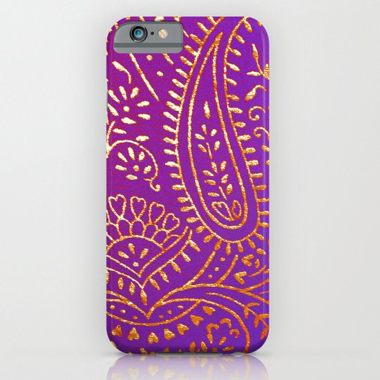 purple&gold iPhone & iPod Case