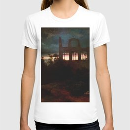 Landscape with castle ruins by Arnold Bocklin T-shirt