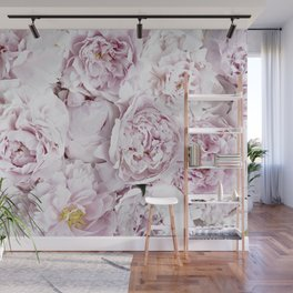 BED OF FLOWERS - PEONY PINK Wall Mural