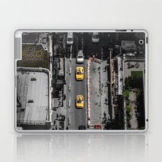 Yellow Cab from Above - Original #society6 exclusive Laptop & iPad Skin
