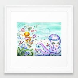 Silly Jellyfish  Framed Art Print