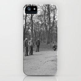 Jeu de Boules spelen in het park, Bestanddeelnr 254 0616 iPhone Case