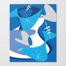 Blue Bam Boom Canvas Print