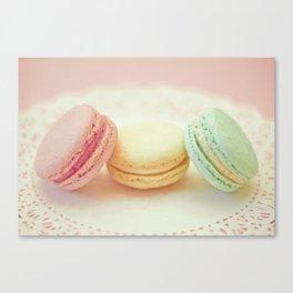 Pastel Macarons Canvas Print
