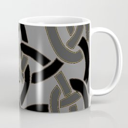 Charcoal Grey Color Celtic Art Coffee Mug