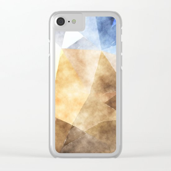 On the fields- Abstract watercolor triangle pattern Clear iPhone Case