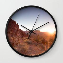 Setting Desert Sun Wall Clock