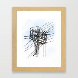 Kensington Market Wires Framed Art Print