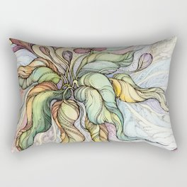 Bridal Bouquet.Hand drawn watercolor and ink drawing Rectangular Pillow