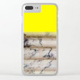 Greek Yellow Marble Clear iPhone Case