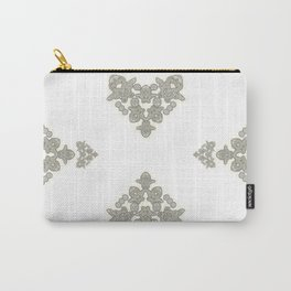 'Love 03' - Dutch heart of lace in grey and soft yellow Carry-All Pouch