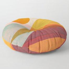 Abstraction_SUNSET_LANDSCAPE_POP_ART_Minimalism_018X Floor Pillow