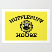 hufflepuff Art Prints featuring Hufflepuff Pride by Jonathan Knight